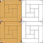 Flooring inlay: M18 Parquet