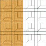 Flooring inlay: M6 Parquet