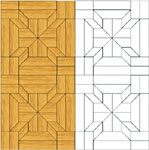 Flooring inlay: M8 Parquet