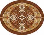 Flooring inlay:  Magic-II-Oval Wood Medallion