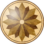 Flooring inlay:  R7 Wood Medallion