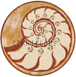 Flooring inlay:  Nautilus Stone Medallion