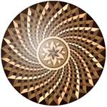 Flooring inlay:  Spinoza Wood Medallion