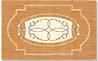 Flooring inlay: P13 Wood Medallion