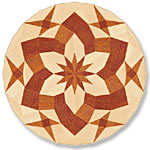 Flooring inlay: P19 Wood Medallion