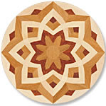 Flooring inlay: P21 Wood Medallion