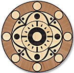 Flooring inlay: P23 Wood Medallion