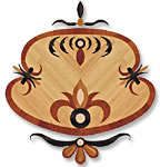 Flooring inlay: P28 Wood Medallion