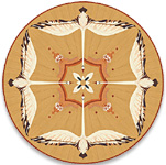 Flooring inlay: P35 Wood Medallion