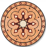 Flooring inlay: P6 Wood Medallion