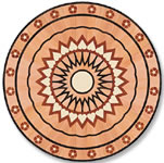 Flooring inlay: P7 Wood Medallion