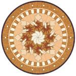 Flooring inlay: PC8 Wood Medallion