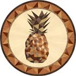 Flooring inlay:  Pineapple Wood Medallion