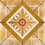 Flooring inlay: SPMX7 Stone Medallion