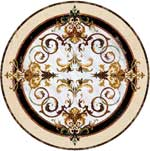 Flooring inlay:  Rafael Stone Medallion