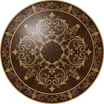 Flooring inlay:  Rembrandt Wood Medallion