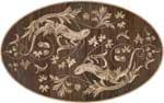 Flooring inlay:  Nature Wood Medallion