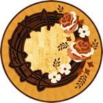 Flooring inlay: RZ073 Wood Medallion