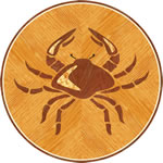 Flooring inlay: Cancer Wood Medallion