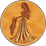 Flooring inlay: Virgo Wood Medallion