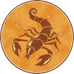 Flooring inlay: Scorpio Wood Medallion