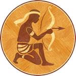 Flooring inlay: Sagittarius Wood Medallion