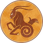 Flooring inlay: Capricorn Wood Medallion