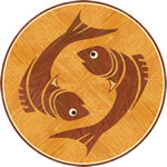 Flooring inlay: Pisces Wood Medallion