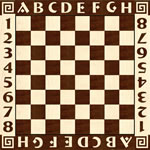Flooring inlay: Chess Wood Medallion
