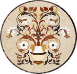 Flooring inlay: Vase Stone Medallion