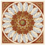 Flooring inlay:  SP3 Stone Medallion