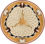 Flooring inlay: SP5 Stone Medallion