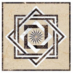 Flooring inlay:  SR2B Stone Medallion