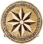 Flooring inlay:  SR8 Stone Medallion