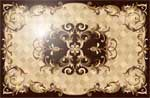 Flooring inlay:  Villa-Light Wood Medallion