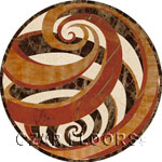 Flooring inlay:  Vortex-marble Stone Medallion
