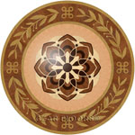Flooring inlay:  P18 Wood Medallion