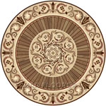 Flooring inlay:  P37 Wood Medallion