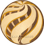 Flooring inlay:  Twister Wood Medallion