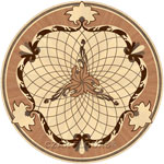 Flooring inlay: P5 Wood Medallion
