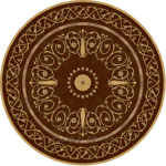 Flooring inlay:  Lidia Wood Medallion